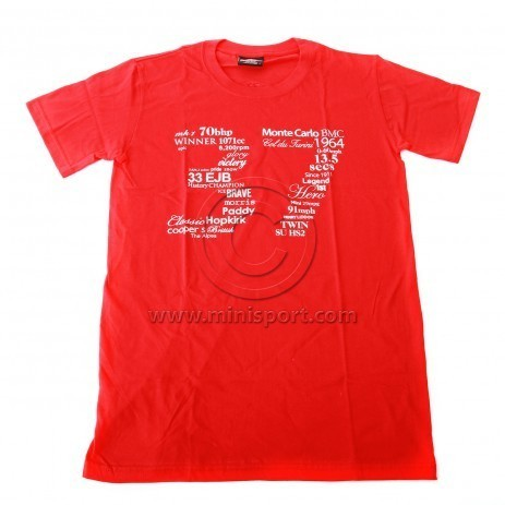 Camiseta Paddy Hopkirk Collection, 37 rojo.